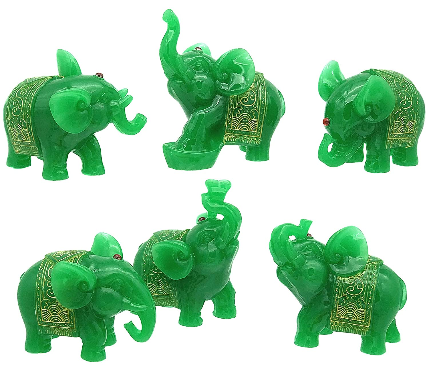 Amazon.com: Betterdecor - Juego de 6 estatuas de elefante de ...