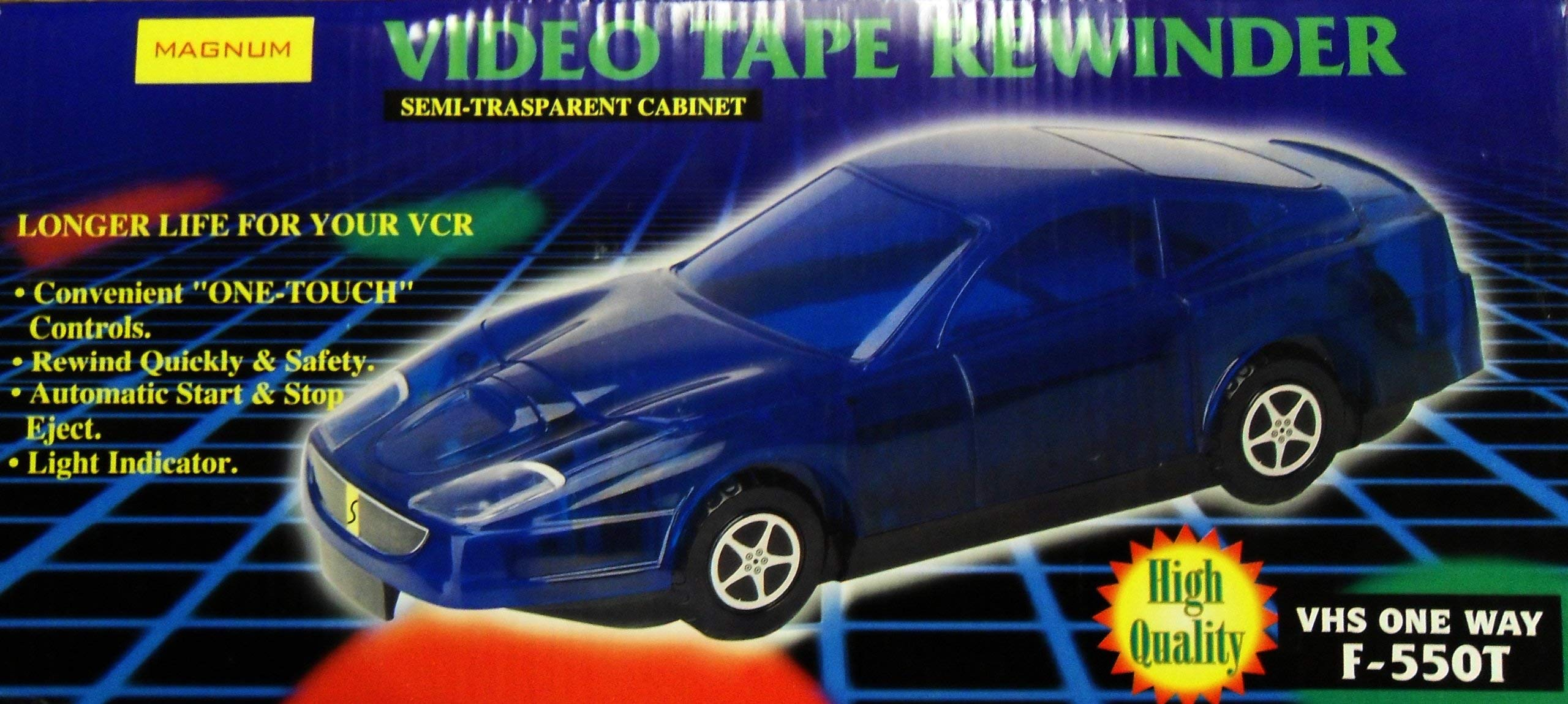 MAGNUM F550T VHS Video Tape Rewinder (Color Green)