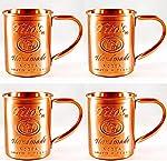 Tito's Vodka Copper Moscow Mule Mug Set of 4