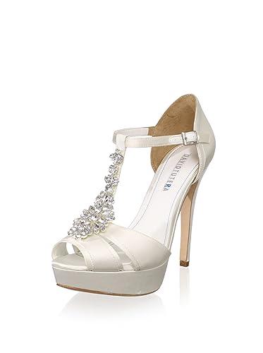 b813cab42a9f David Tutera Bridal Women s Jewel T-Strap Platform Sandal