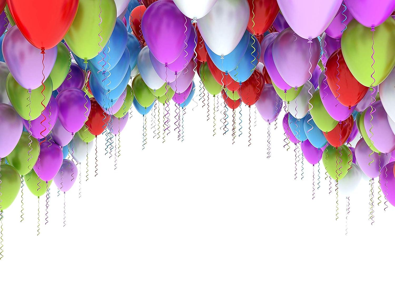 Amazon.com: E00T9986 - Fondo de globos arcoíris para ...