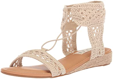 0e83b363bb0 Sugar Women s Dreambig Crochet Open Toe Ankle Strap with Chop-Out Detail  Sandal