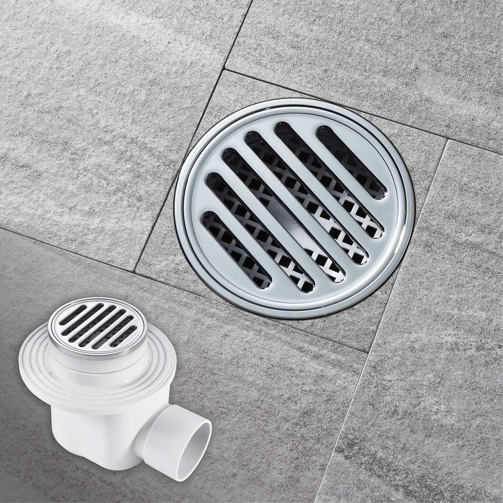 FHAMEI Bodenablauf aus reinem Kupfer Bad WC K/üche Garten Entw/ässerung Deodorant Runde Seitenentw/ässerung Abnehmbare Bodenablauf 88mm /× 88mm