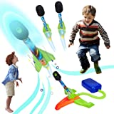Toy Rocket Launcher Air Power Rocket Lift Off with a Sound, 4 Pedal Rockets & Sturdy Launcher Stand with Foot Launch Pad - Fu