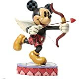Disney Traditions Love is in the Air Cupid Mickey Figurine, Multi-Colour
