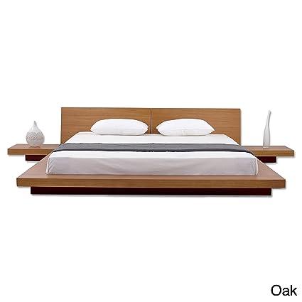 fujian modern amazon dp bed platform night stands com oak queen matisse