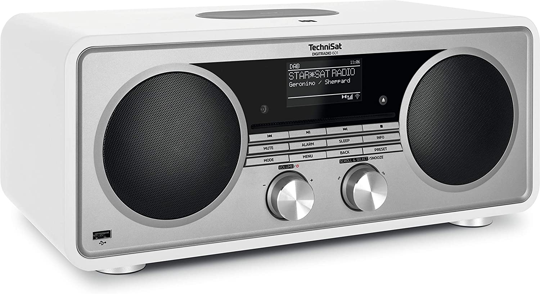Technisat Digitradio 601 Stereo Internetradio Dab Ukw Subwoofer Fernbedienung Cd Player Usb Bluetooth Audiostreaming Aux Wlan Radiowecker Wireless Charging Amazon Alexa Weiß Heimkino Tv Video