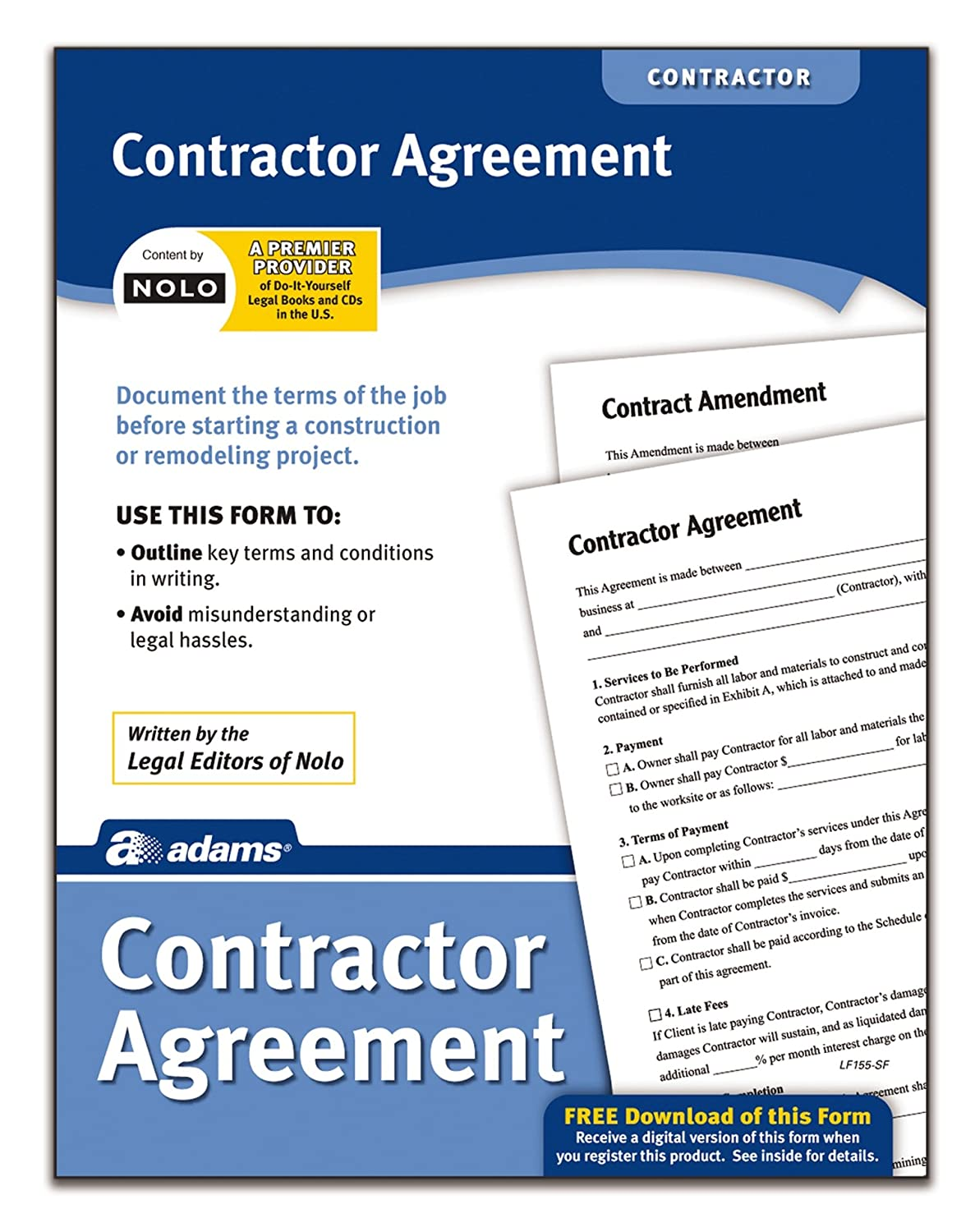 Amazon Adams Contractor Agreement Forms And Instructions