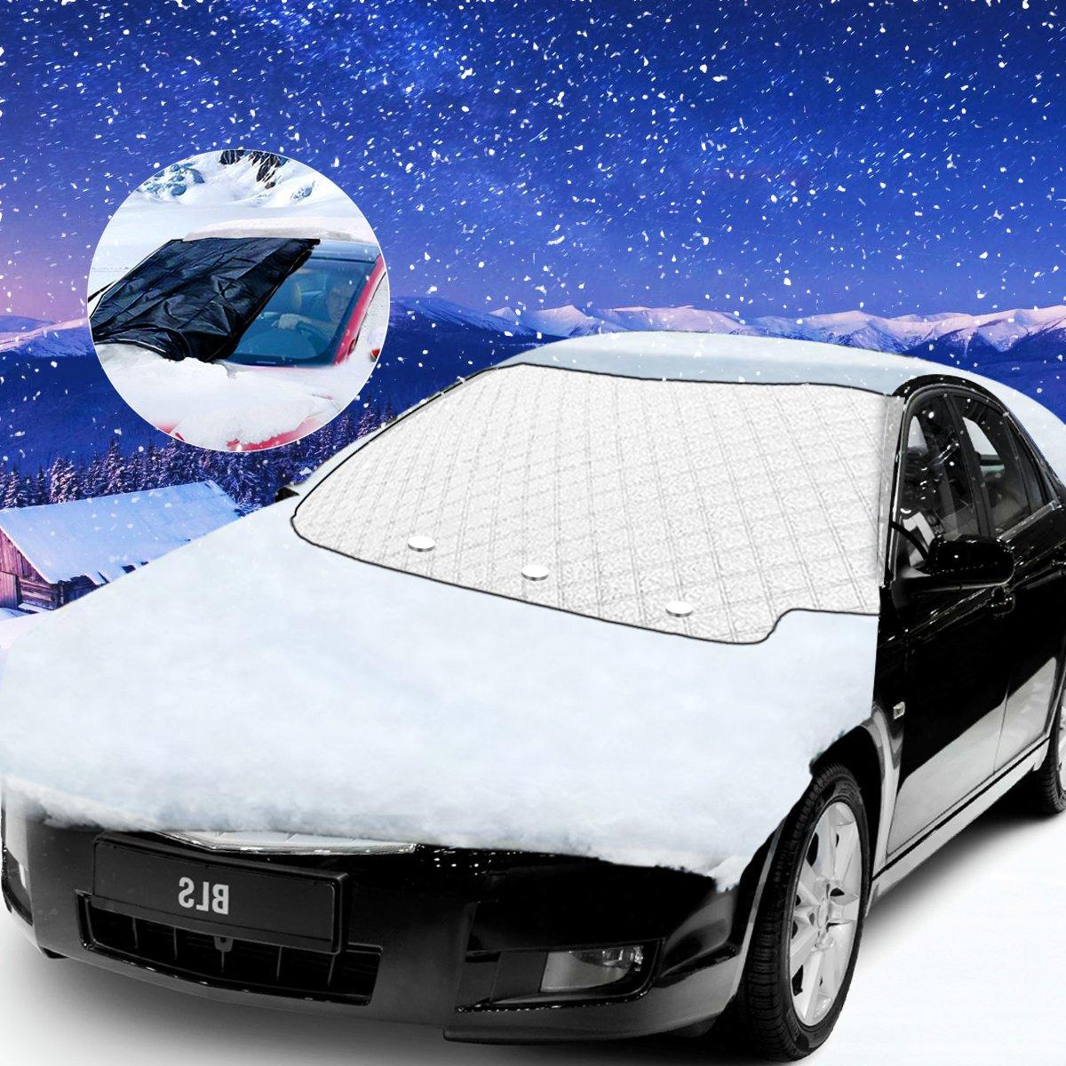 Protector de Parabrisas, Bigmeda Cubierta del Parabrisas Parasol de Coche Protector de Parabrisas Contra el Hielo de la Escarcha de Nieve car Carro del Coche SUV Parabrisas Delanteras Windshiled