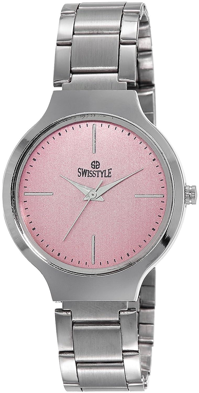 Swisstyle Analogue Pink Dial Womens Watch-Ss-Lr823-Pnk-Ch