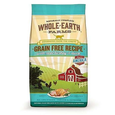 e917690b56 Amazon.com   Whole Earth Farms Grain Free Recipe Dry Cat Food ...