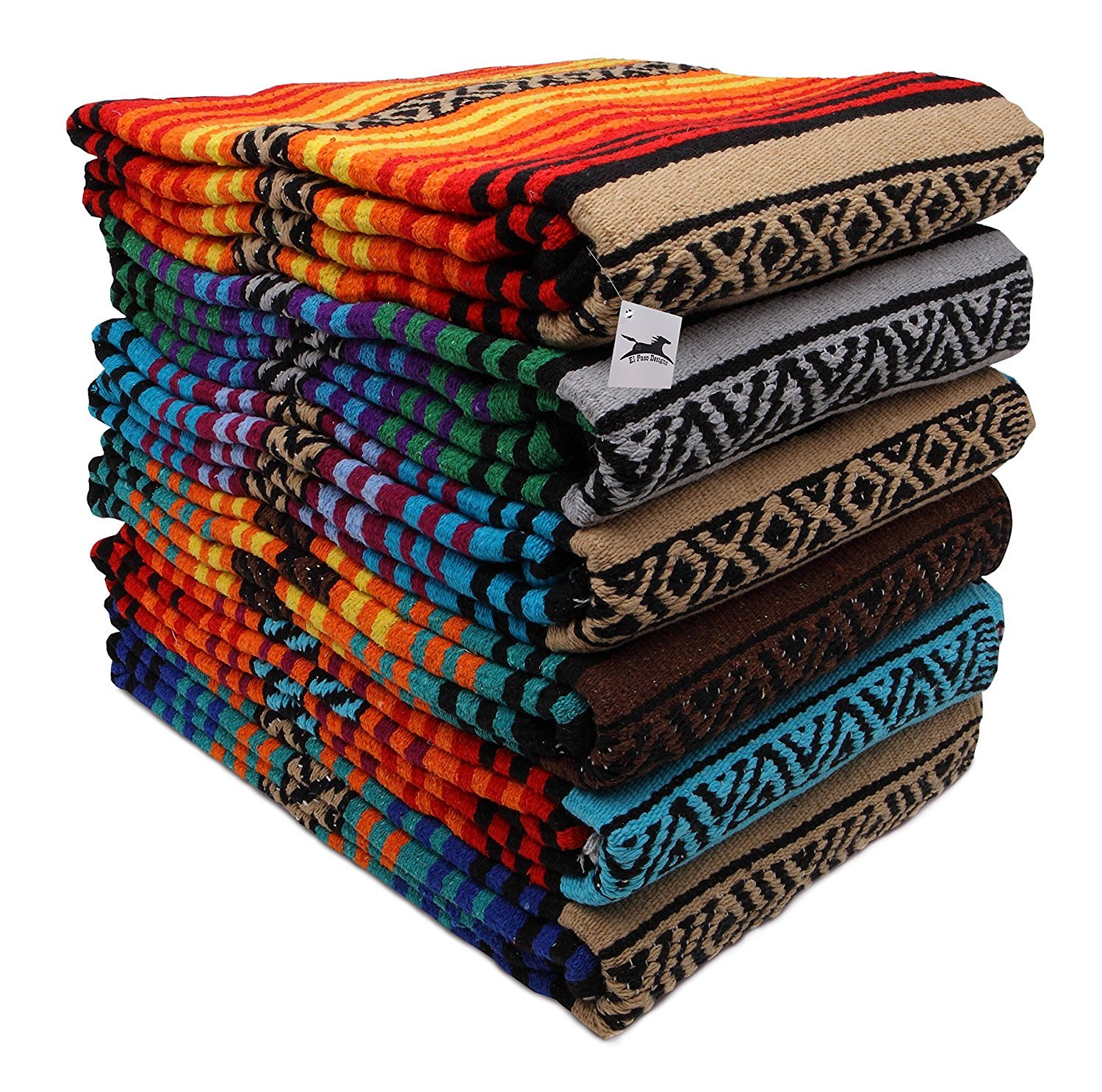 El Paso Designs Peyote Hippie Blanket  Yoga Blanket