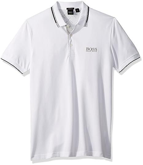BOSS Green Mens Paddy Pro 10143643 01 White Shirt: Amazon.es ...