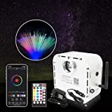 CHINLY Bluetooth 32W RGB Twinkle LED Fiber Optic Star Ceiling Kit Light APP/Remote Control Mixed 710pcs (0.03in+0.04in+0.06in