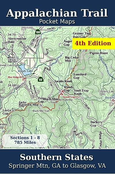 Appalachian Trail Pocket Maps Southern States Volume 1 Parks K Scott 9781502496720 Amazon Com Books