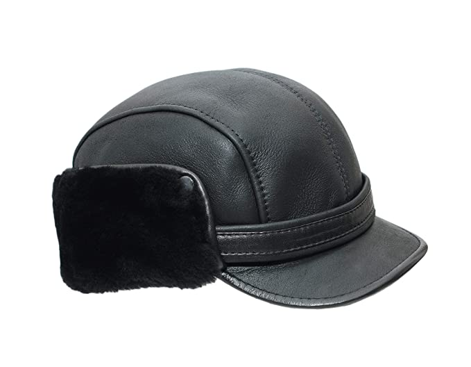 Ricardo B.H. Men s Leather Cap Hat  Amazon.ca  Clothing   Accessories 8120e79c5cc6