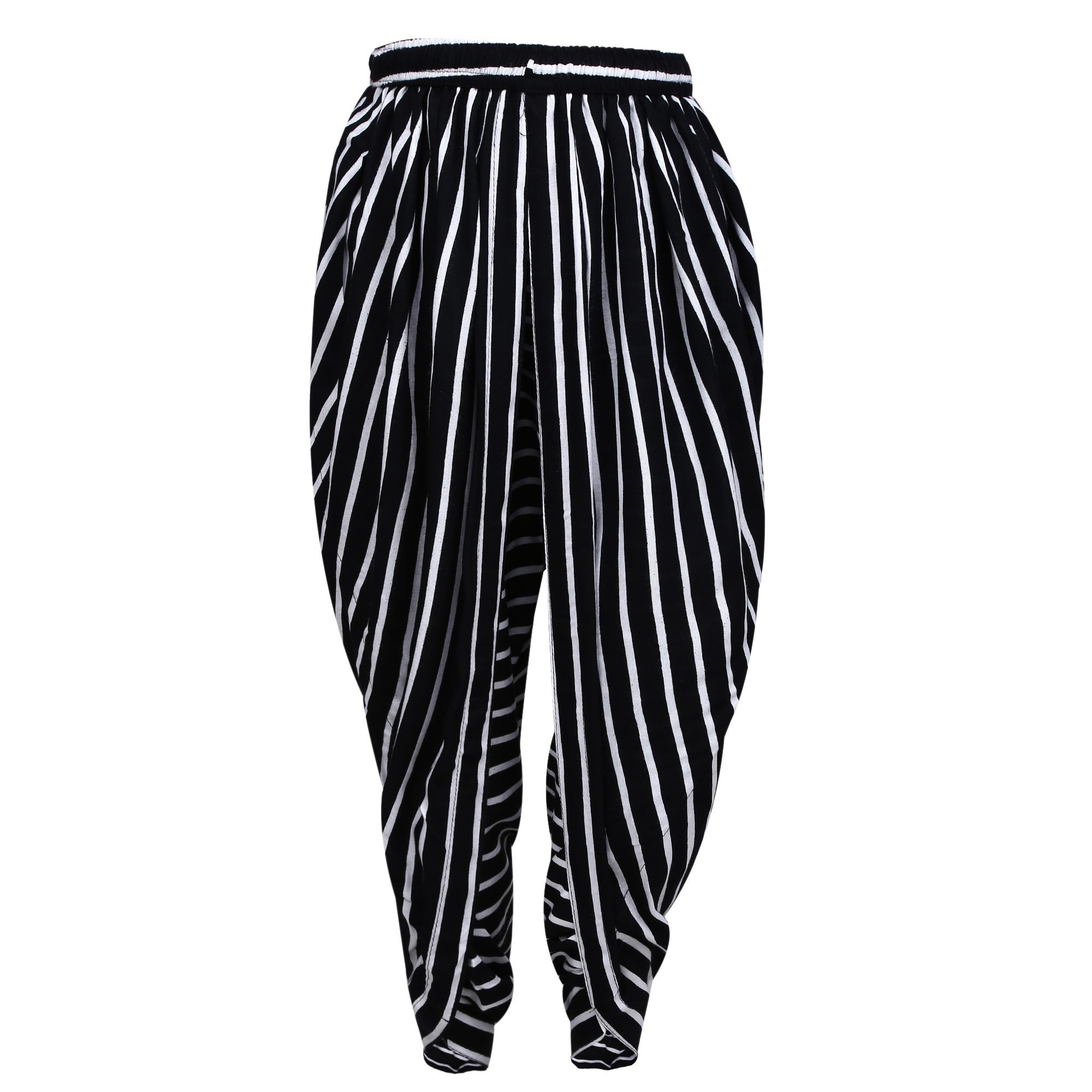 Black and White Striped Rayon Dhoti Pant, Patiala Dhoti Salwar, Dhoti Trousers for Chidren