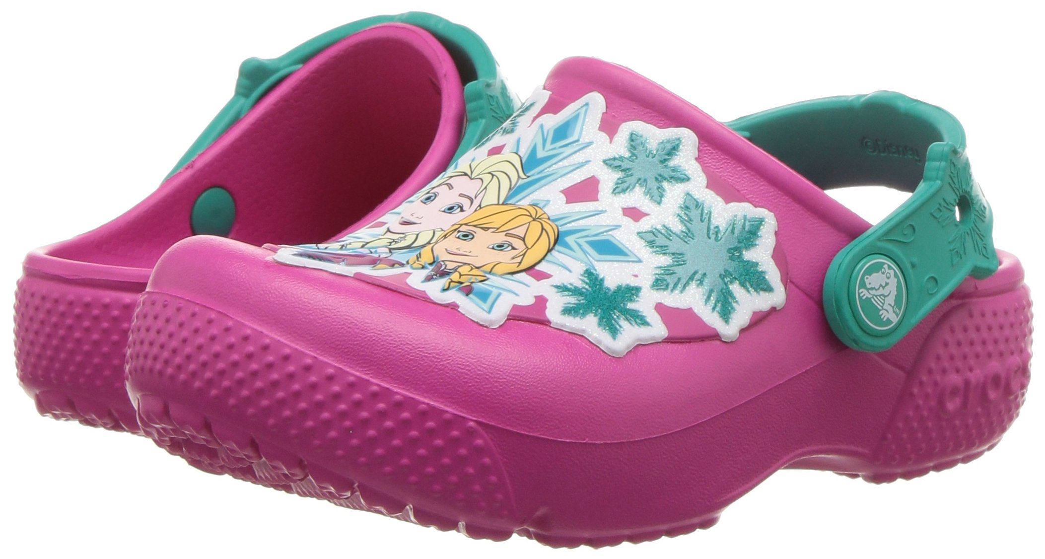 Crocs Girls' Fun Lab Frozen Clog K, Candy Pink, 10 M US Little Kid by Crocs (Image #6)