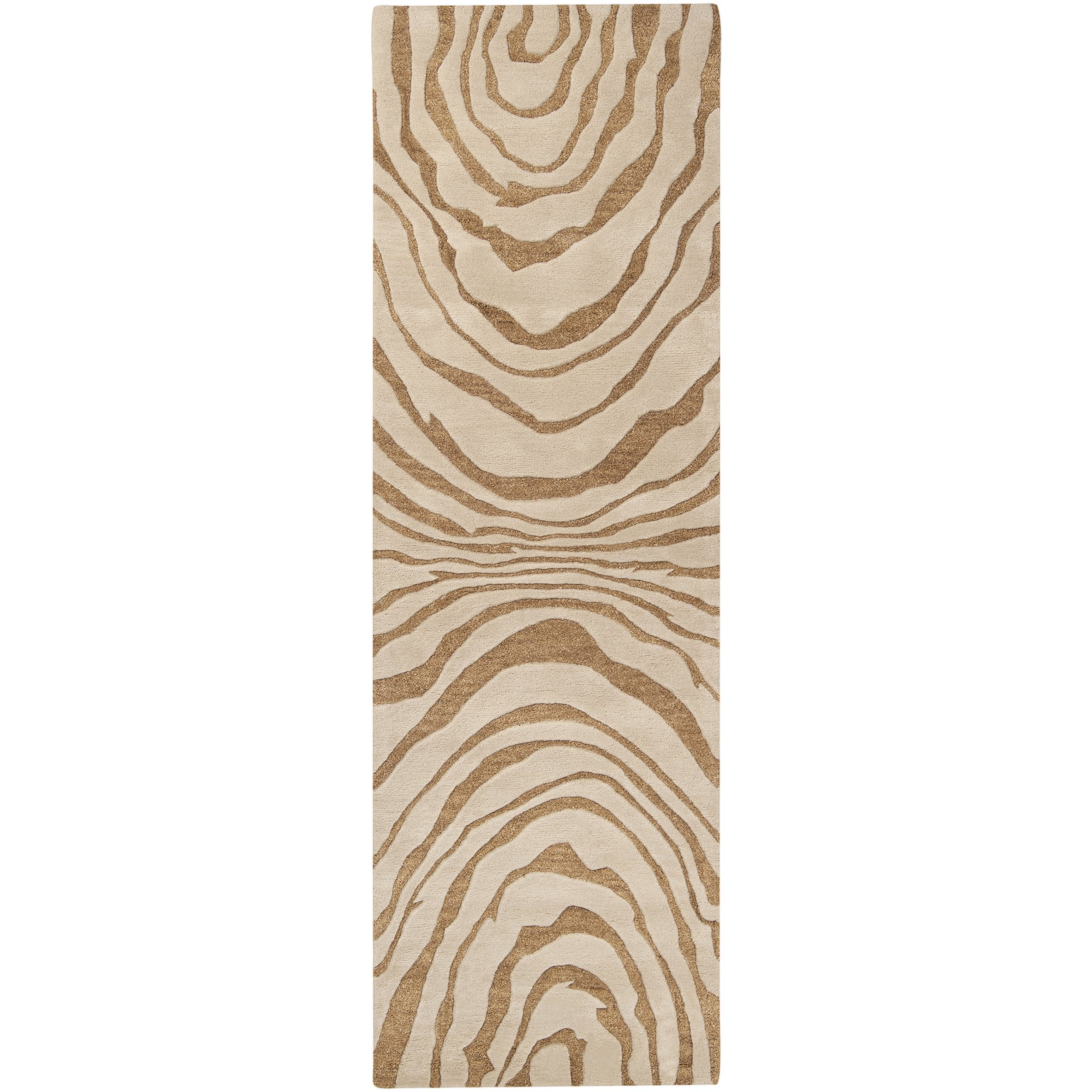 Surya Studio SR-113 Contemporary Hand Tufted 100% New Zealand Wool Ivory 2'6'' x 8' Abstract Runner by Surya