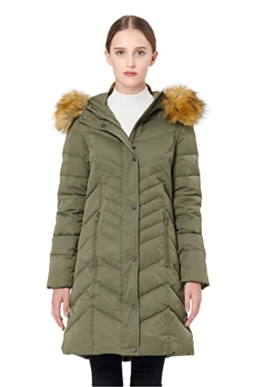b79bce83f Orolay Women's Thickened Mid-Long Down Jacket with Hood