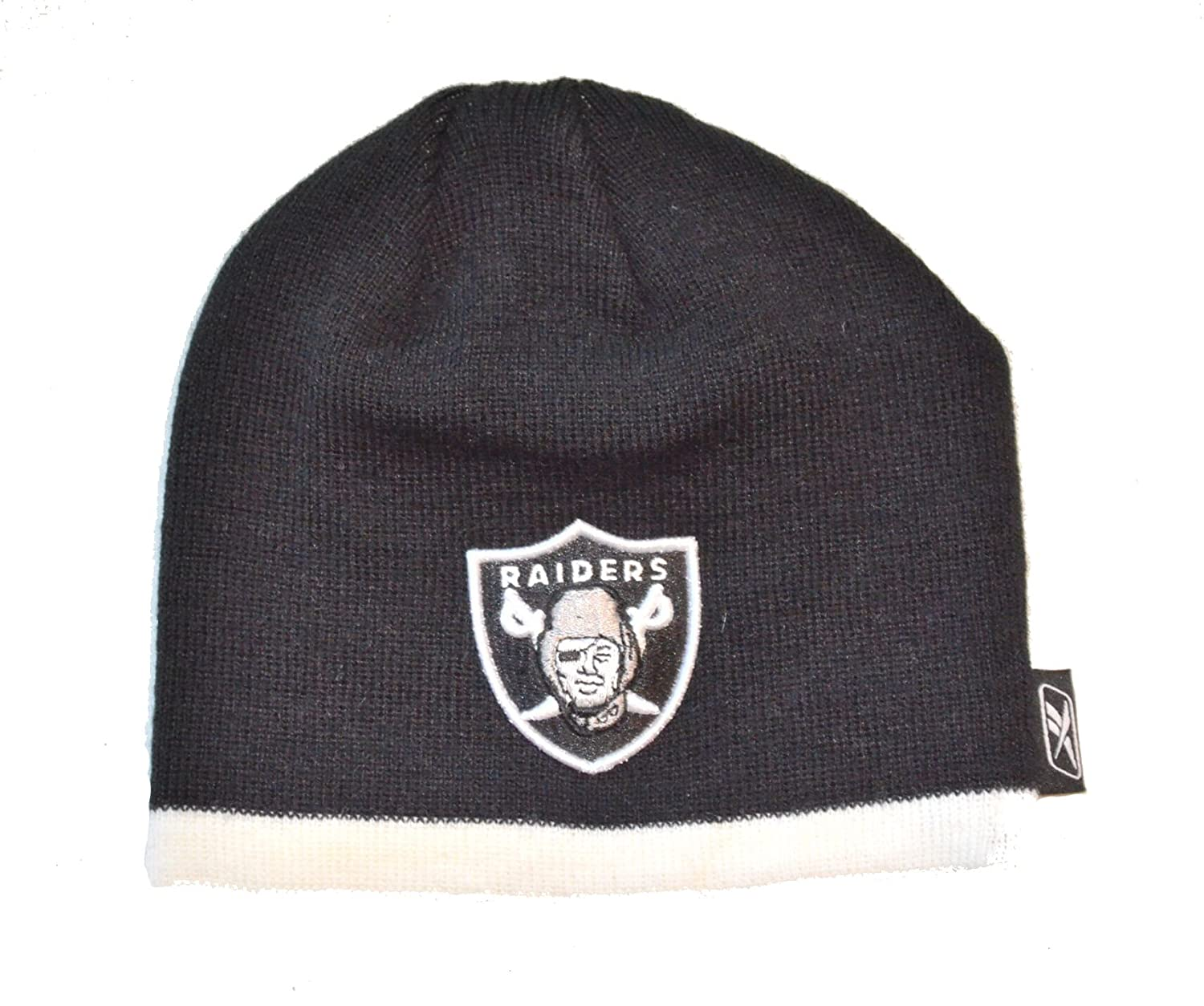 Amazon.com   Oakland Raiders Toddler Striped Beanie Hat - NFL Baby Knit  Gift Cap   Sports   Outdoors 877a7a3a8