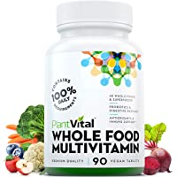 New! Whole Food MULTIVITAMIN with 62 Superfoods, Raw Veggies & Fruits, Probiotics, Digestive Enzymes, B-Complex, Omegas & More. Vegan/Non-GMO. Dairy/Soy/Gluten Free. 90 Veggie Tablets. 30 Days