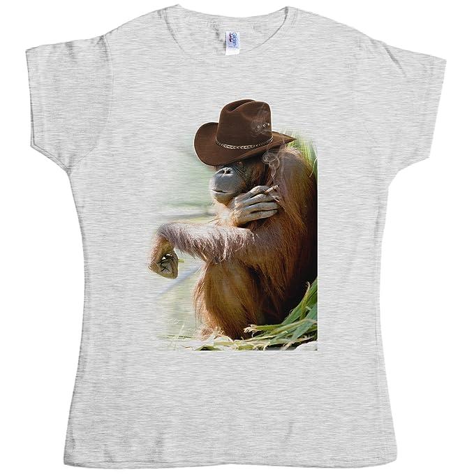 cac154bba Amazon.com: Womens Cowboy Orangutan T Shirt - 8Ball Originals Tees: Clothing
