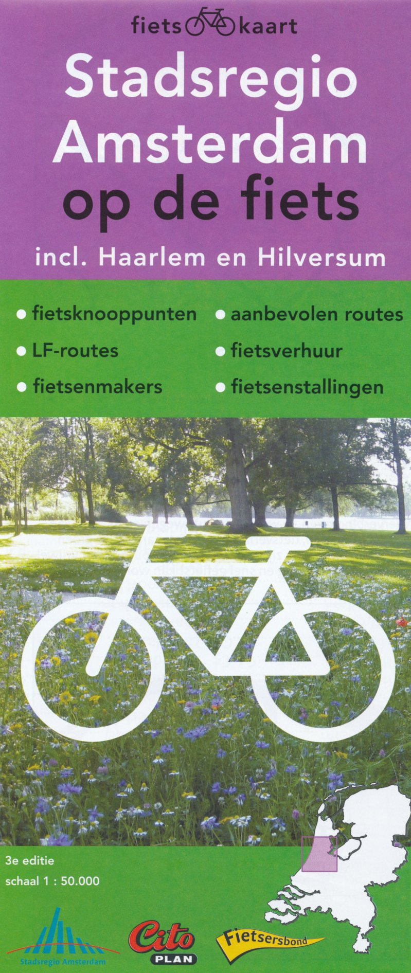 Amsterdam (Netherlands) 1:50, 000 regional map with cycling ...