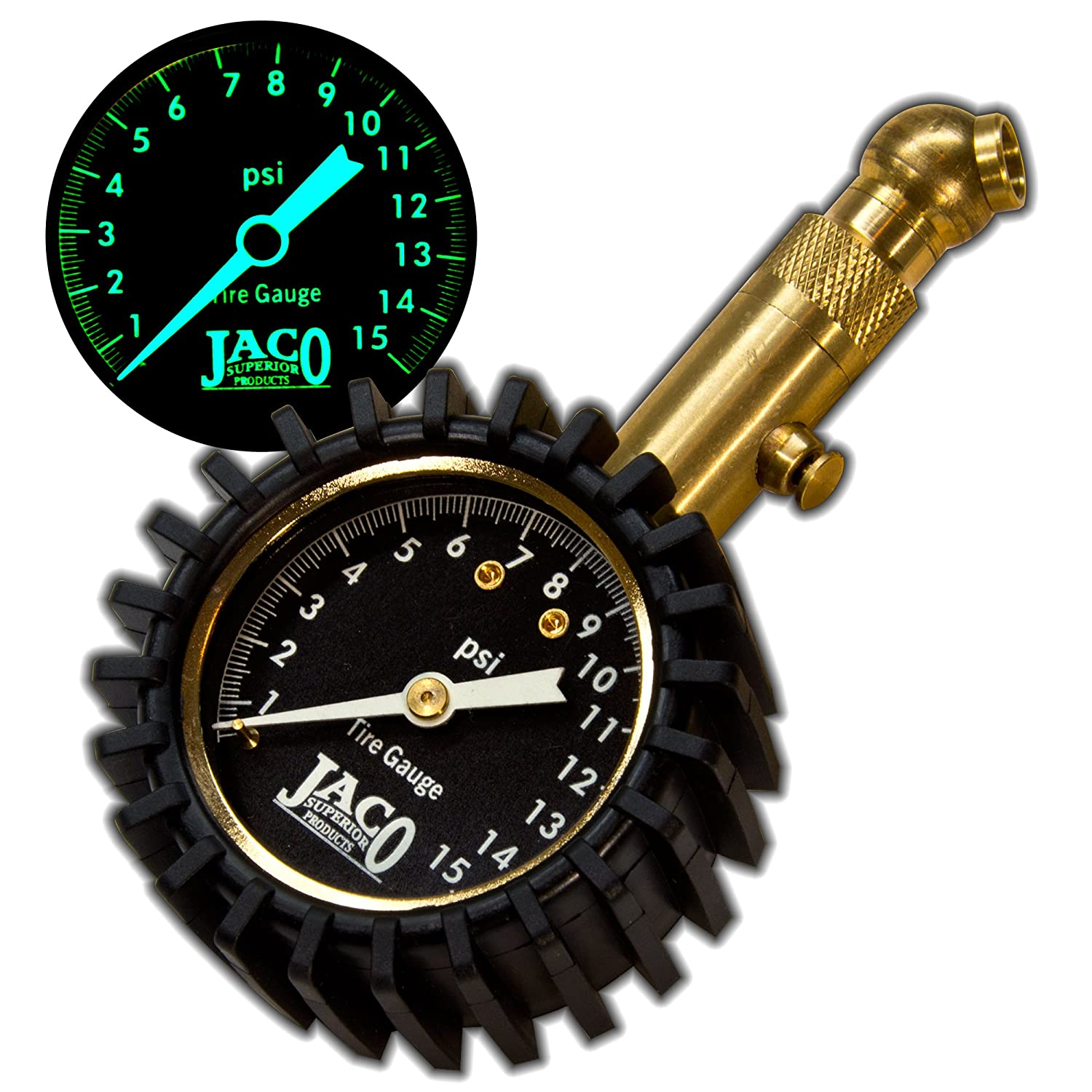 JACO Elite Tire Pressure Gauge - 15 PSI JACO Superior Products 4333085792