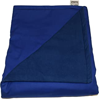 """product image for Weighted Blankets Plus LLC - Made in USA - Adult Large Weighted Blanket - Blue - Cotton/Flannel (72"""" L x 42"""" W) 18lb High Pressure."""