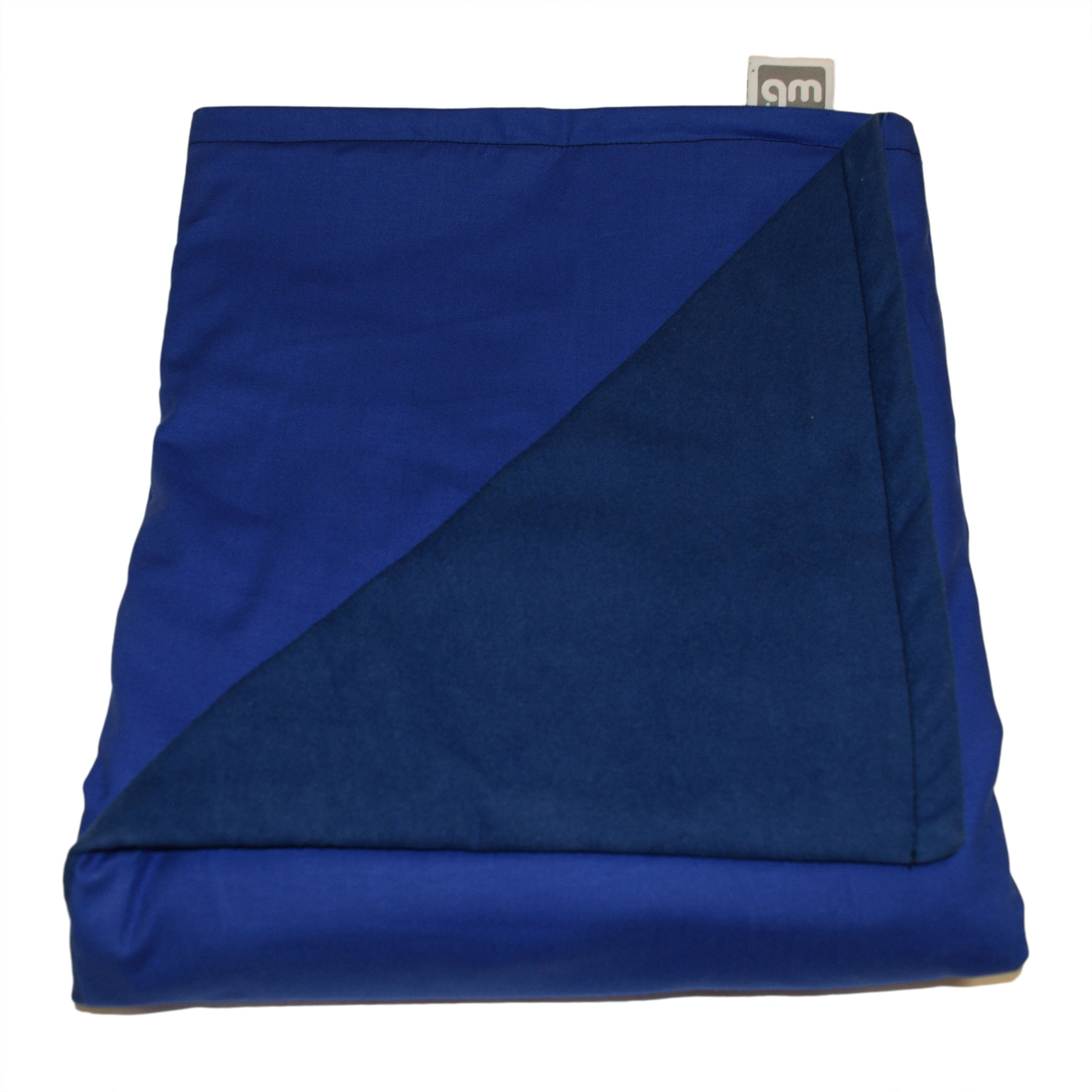 WEIGHTED BLANKETS PLUS LLC - Made in America - Child Deluxe Small Weighted Blanket - Blue - Cotton/Flannel (52'' L x 40'' W) 6lb Medium Pressure.