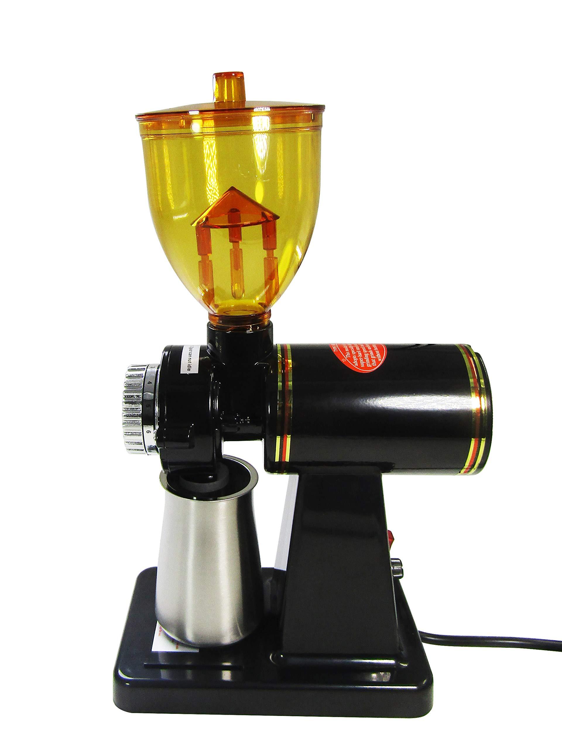 JIAWANSHUN 250g Automatic Coffee Burr Grinder Coffee Burr Mill Coffee Bean Grinder (110V, Black)