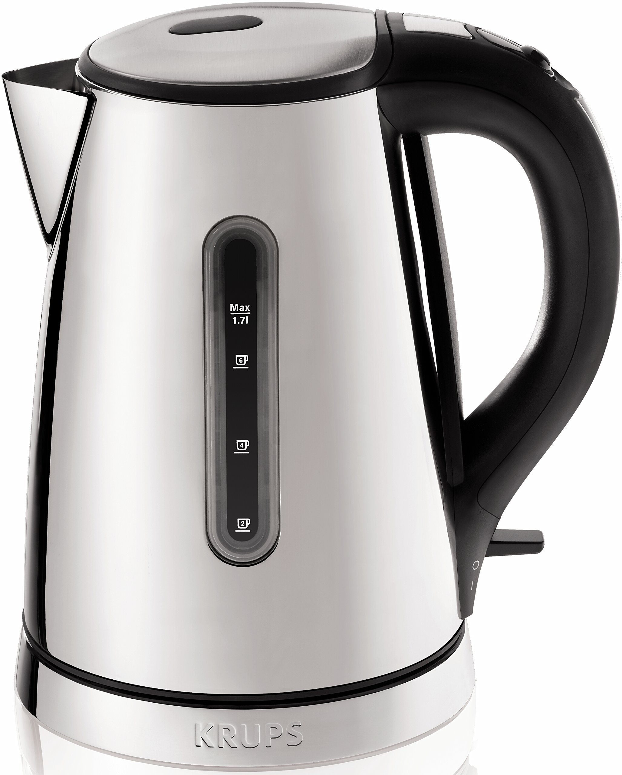 KRUPS BW730D Breakfast Set Electric Kettle with Brushed and Chrome Stainless Steel Housing, 1.7-Liter, Silver by KRUPS
