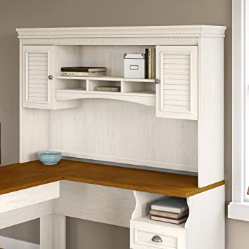 fairview hutch for l shaped desk in antique white