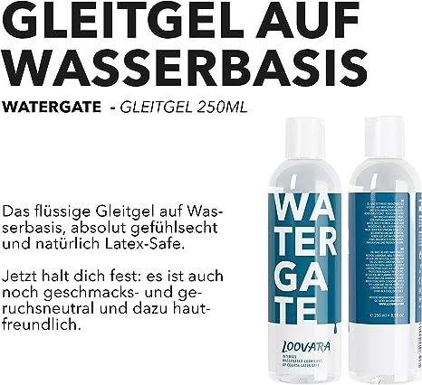 Loovara Watergate – Gel lubricante a base de agua | máxima sensibilidad y delicado con la piel | sin sabor ni perfumes | no mancha la ropa de cama | ...