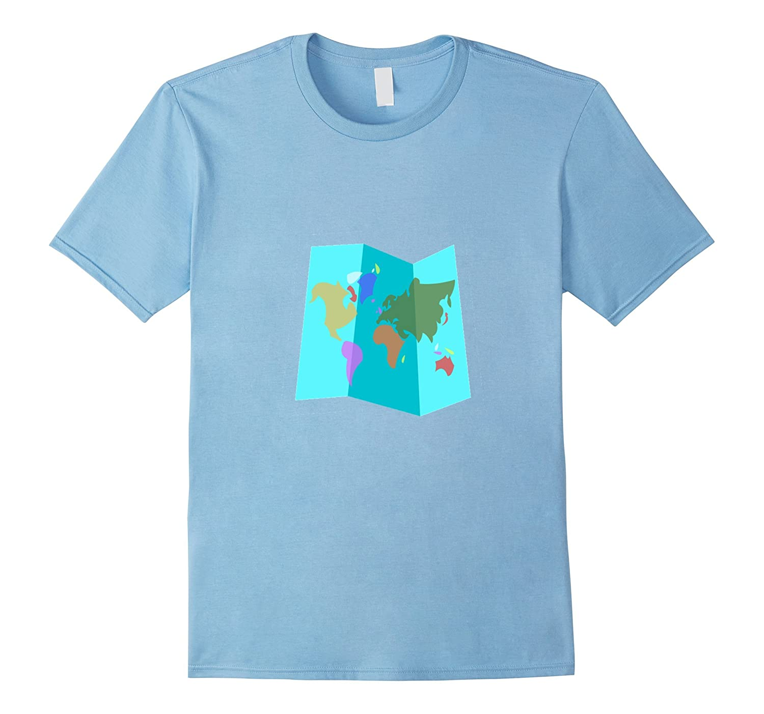 World Map T Shirt Continents Countries Oceans Globe ANZ