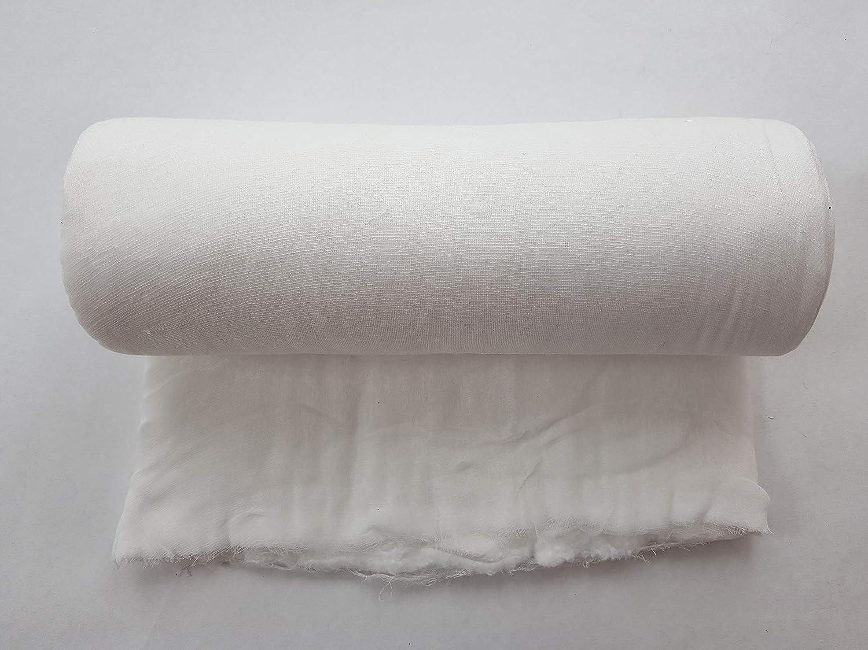 Gasa de algodón, vendaje de algodón, vendaje de algodón 40cm x 5m 1000g: Amazon.es: Salud y cuidado personal