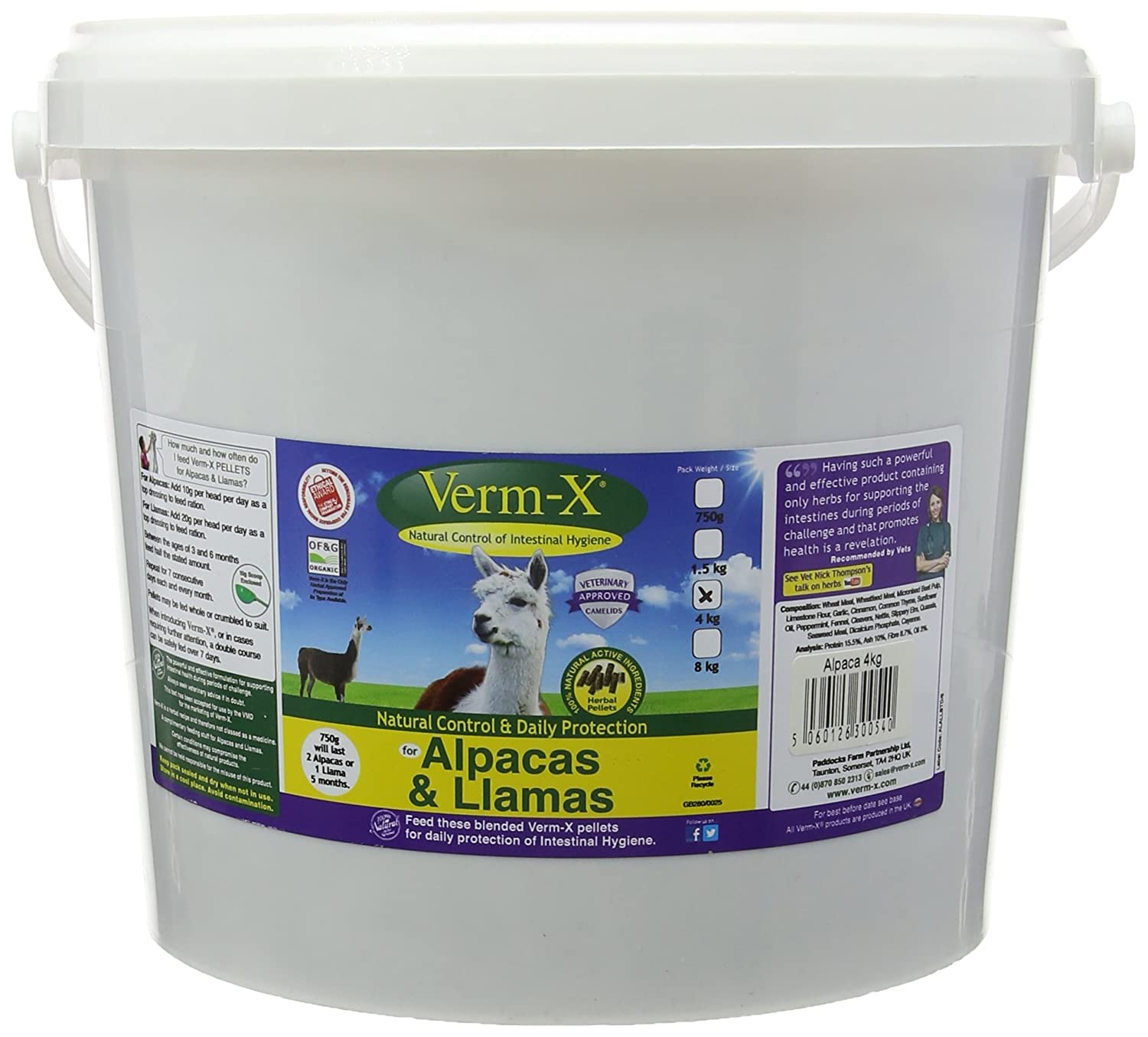 Verm-X for Alpacas and Llamas, 4 kg Yes