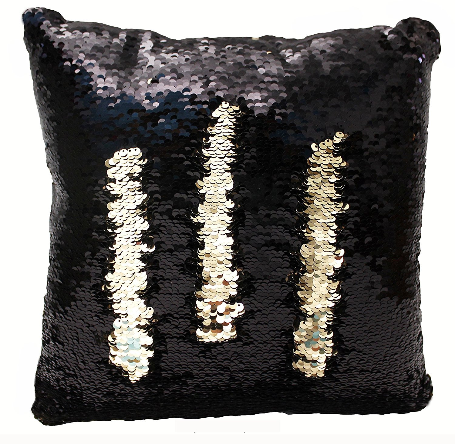 (Black/Gold) Mermaid Sequin Reversible Pillow (Black/Gold) B01I28Q9EC ブラック/ゴールド ブラック/ゴールド