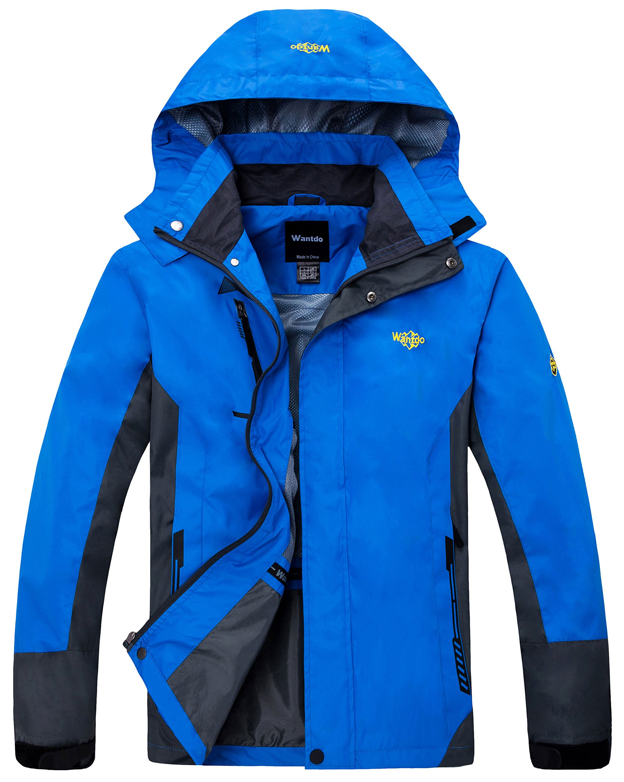 Wantdo Men's Breathable Sports Clothing Removable Polyester Jacket Blue US L by Wantdo