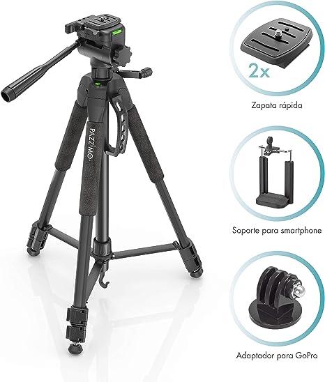PAZZiMO trípode cámara réflex Negro para Canon, con rótula ...