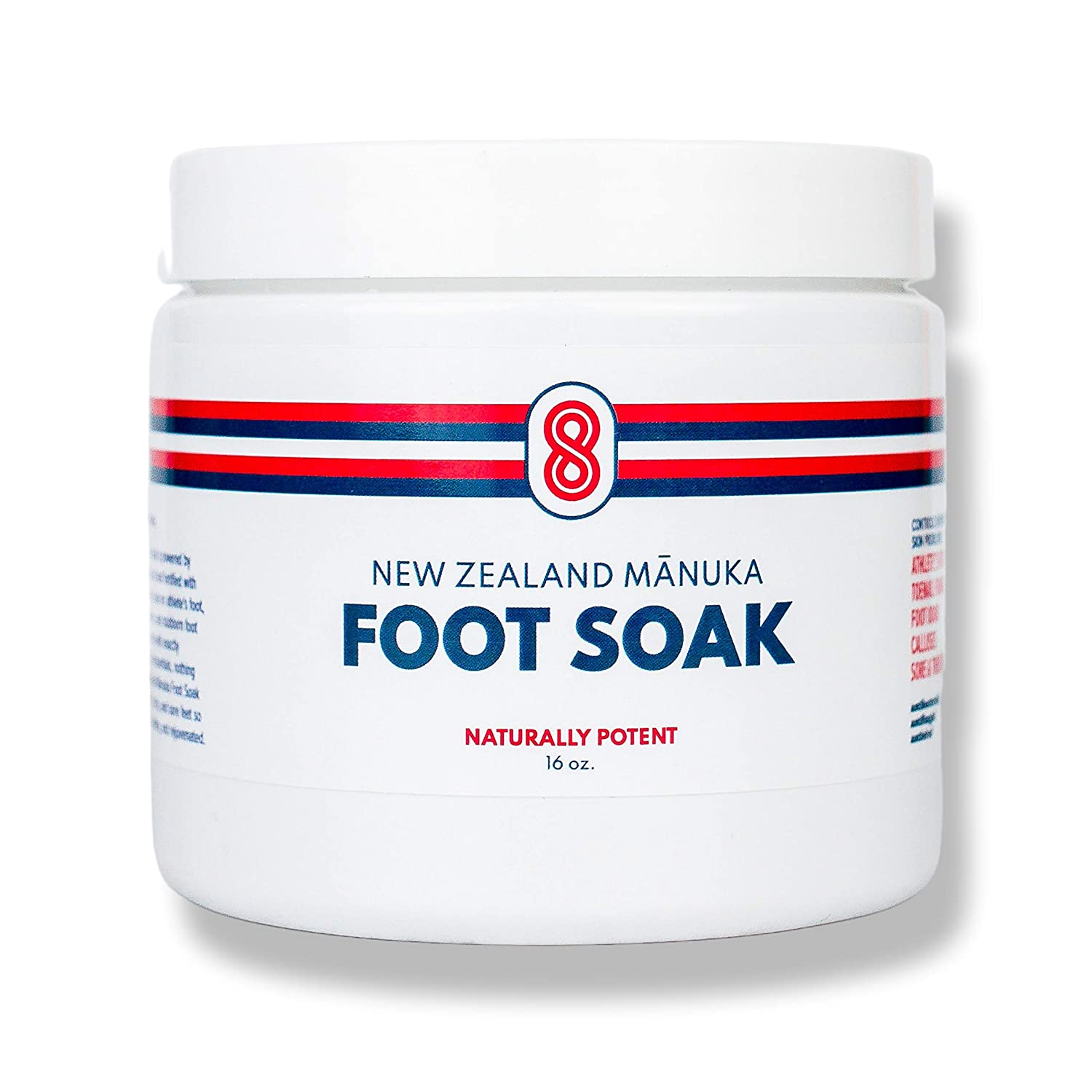 BIOACTIVE 8 MANUKA FOOT SOAK with Epsom Salts for Foot Bath. 30X More Potent than Tea Tree Oil Foot Soak. Foot Detox For Dry Cracked Feet, Toenail Fungus, Athlete's Foot, Smelly Feet. Made in USA.