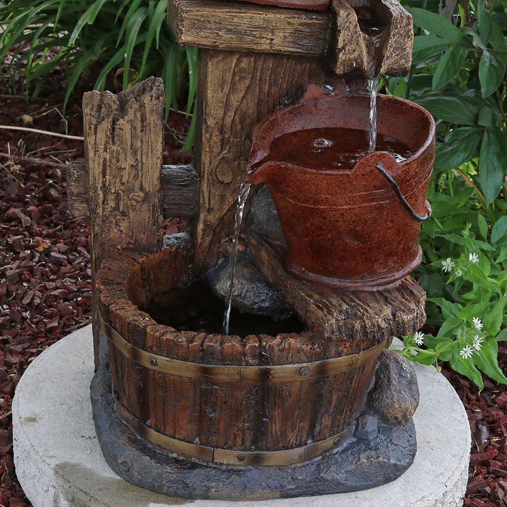 Amazon.com : Sunnydaze Bluebird House and Buckets Outdoor Garden ...