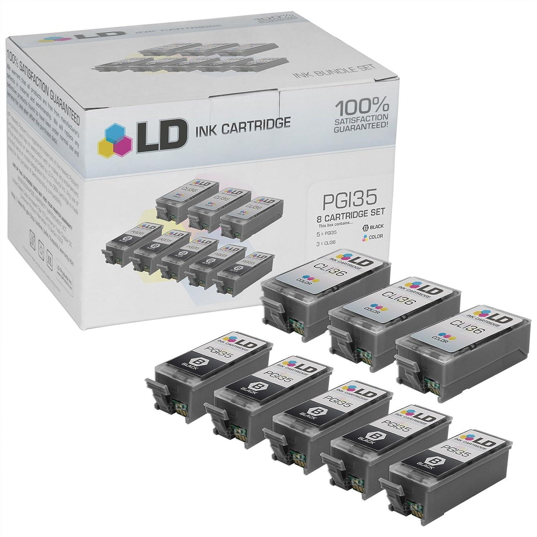 Amazon LD Copy Canon Pixma IP100 Compatible Set Of 8 Ink Cartridges 5 Black PGI35 3 Color CLI36 Office Products
