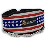 """Premium Dip Belt with Chain by DMoose Fitness – 36"""" Heavy Duty Steel Chain, Comfort Fit Neoprene, Double Stitching – Maximize your Weightlifting & Bodybuilding Workouts with Durable Dipping Belt"""