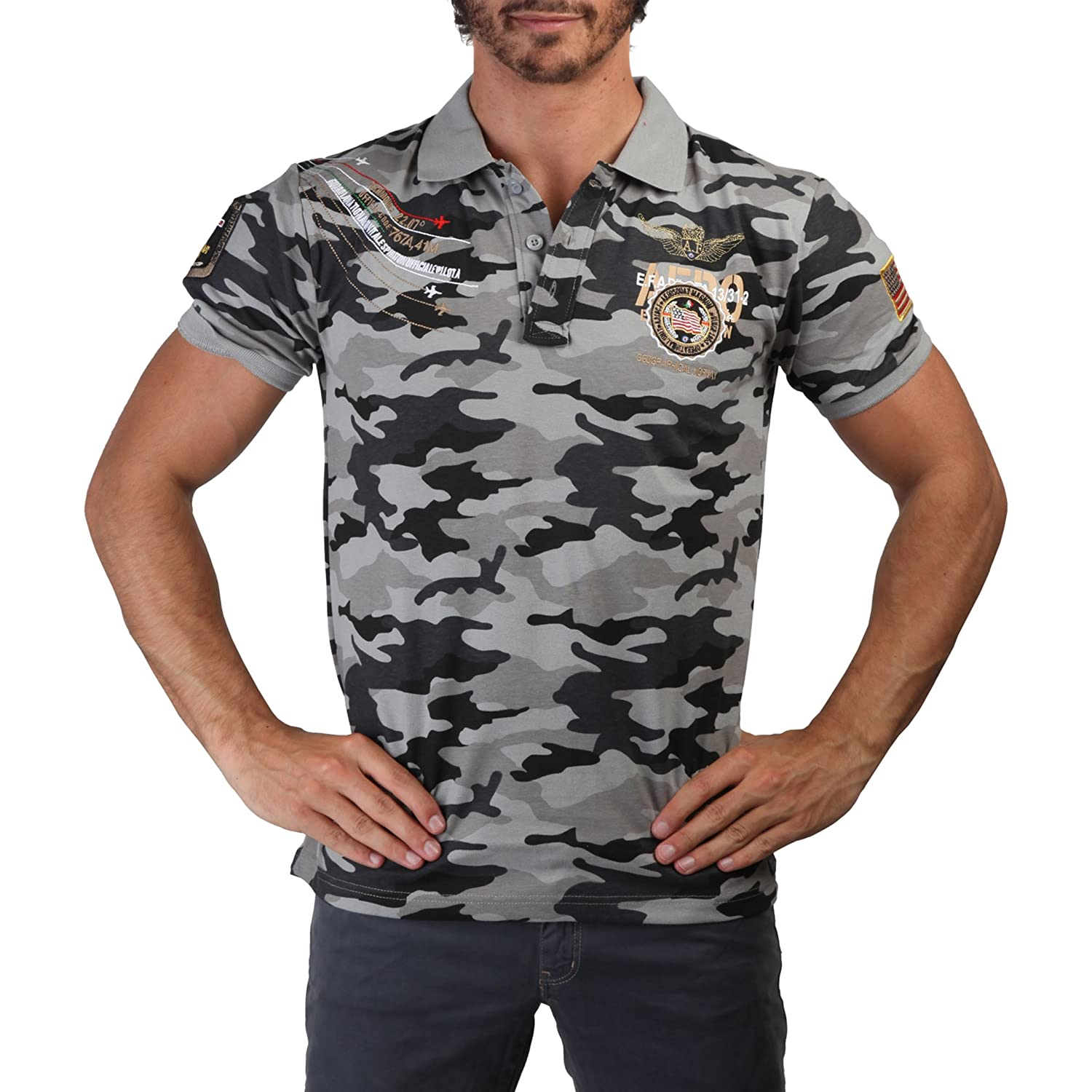GEOGRAPHICAL NORWAY Polo hombre Kaero gris - hombre - M: Amazon.es ...