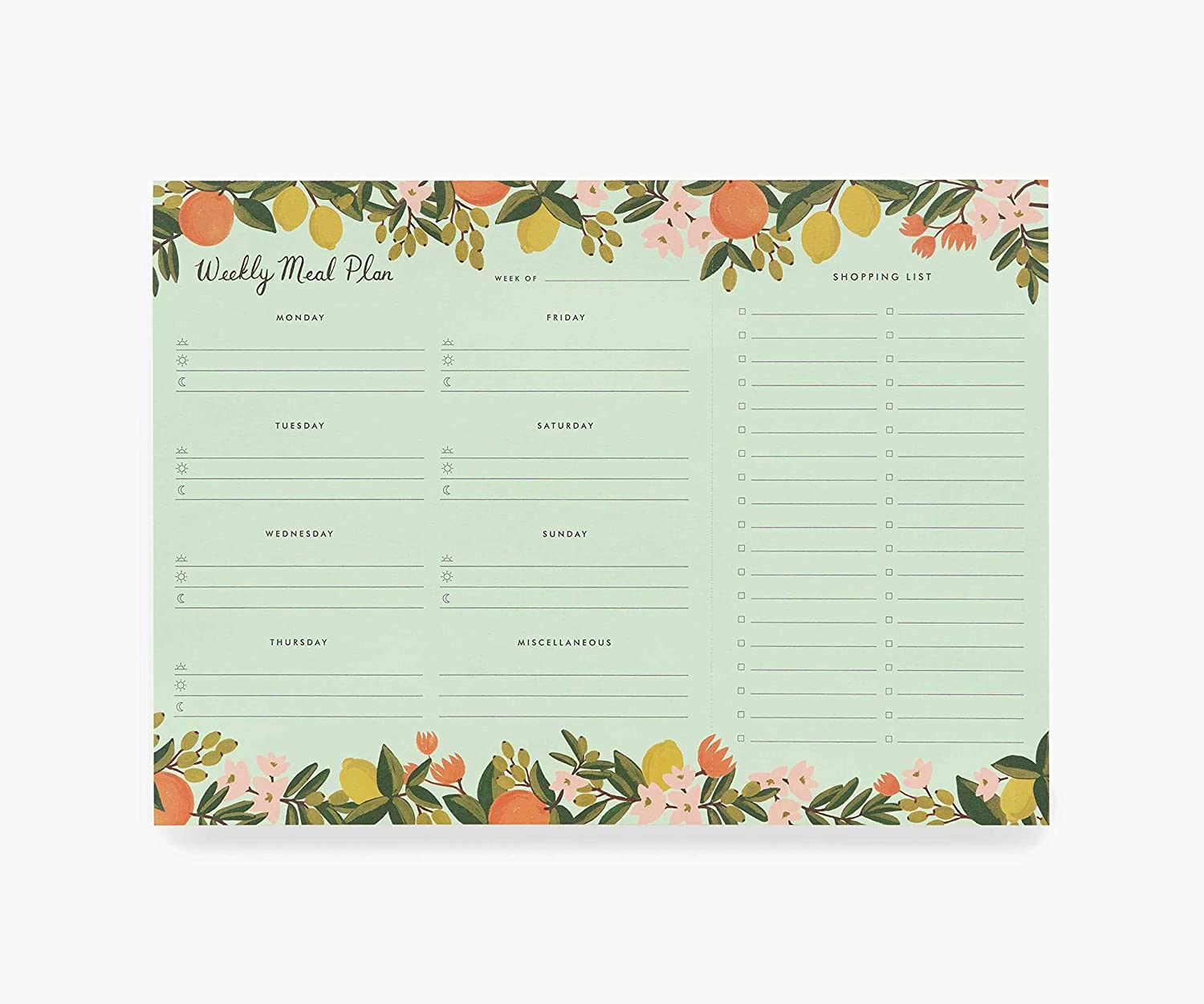Rifle Paper Co Citrus Floral Meal Planner