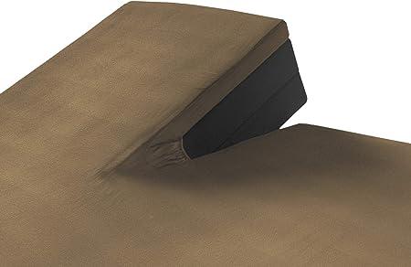 SLEEPMED Sábana Bajera Ajustable para Cama Doble Articulada | Juego de 2 | Sábanas en Algodón elástico de Jersey tamaños (Gris Pardo, 180 x 200 cm): Amazon.es: Hogar