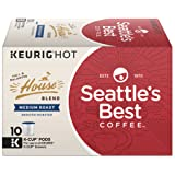 Seattle's Best Coffee House Blend Medium Roast Single Cup Coffee for Keurig Brewers, 1 Box of 10 Count (10 Total K-Cup pods)