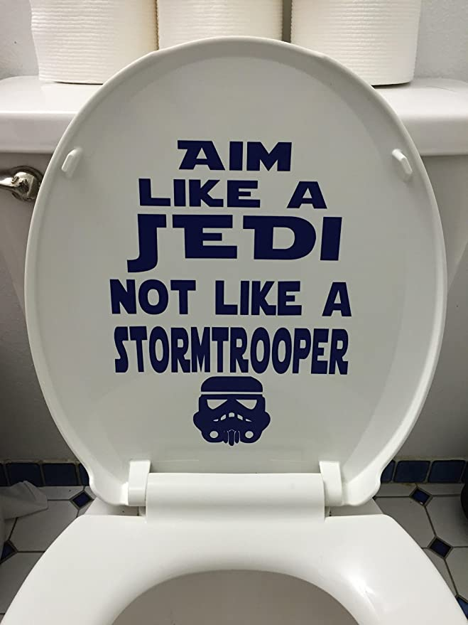 starwars obe one may the force styleToilet Funny Toilet Seat Sticker Vinyl Decal